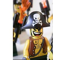 Pirate Captain Minifigure with Flame Photographic Print