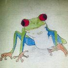 Red Eyed Green Tree Frog by KittenFlower