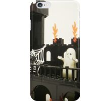 Horror Castle with Ghost Minifig iPhone Case/Skin