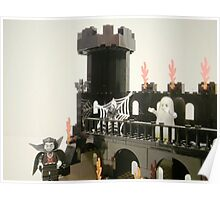 Horror Castle with Ghost Minifig Poster