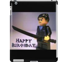Happy Birthday Greeting Card Japanese Yakuza Gokudō Gangster Custom Minifig iPad Case/Skin