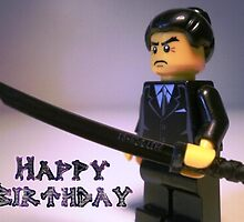 Happy Birthday Greeting Card Japanese Yakuza Gokudō Gangster Custom Minifig by Customize My Minifig