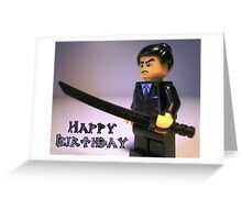 Happy Birthday Greeting Card Japanese Yakuza Gokudō Gangster Custom Minifig Greeting Card