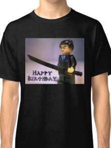 Happy Birthday Greeting Card Japanese Yakuza Gokudō Gangster Custom Minifig Classic T-Shirt