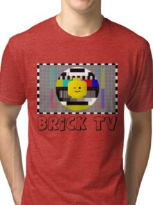 Brick TV Test Transmission  Tri-blend T-Shirt