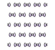 Pixel Ribbon Bow Pattern (lavender) Photographic Print