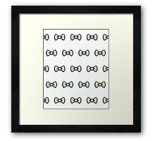Pixel Ribbon Bow Pattern (mint) Framed Print