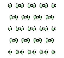Pixel Ribbon Bow Pattern (mint) Photographic Print
