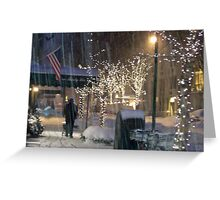 NYC Blizzard Greeting Card