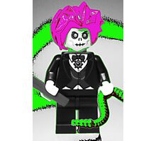 Evil Magician Custom Minifigure with Magic Wand & Snake Photographic Print