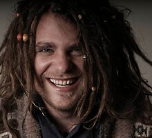 Laughing man by Rebecca  Nicolandos