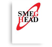 Smeg Head Black Canvas Print