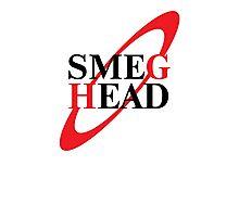Smeg Head Black Photographic Print