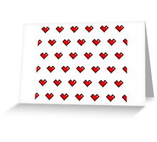 Pixel Heart Pattern Greeting Card