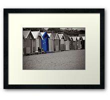 Blue Bathing Box Framed Print