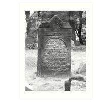 Headstone 1 Art Print