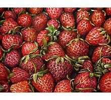 Strawberries oil painting Photographic Print