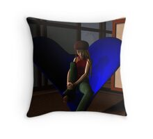 Left Waiting Throw Pillow
