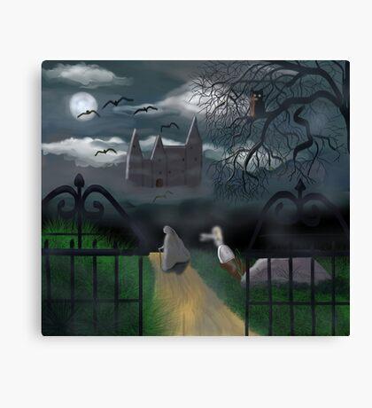 Moonlit Castle Canvas Print