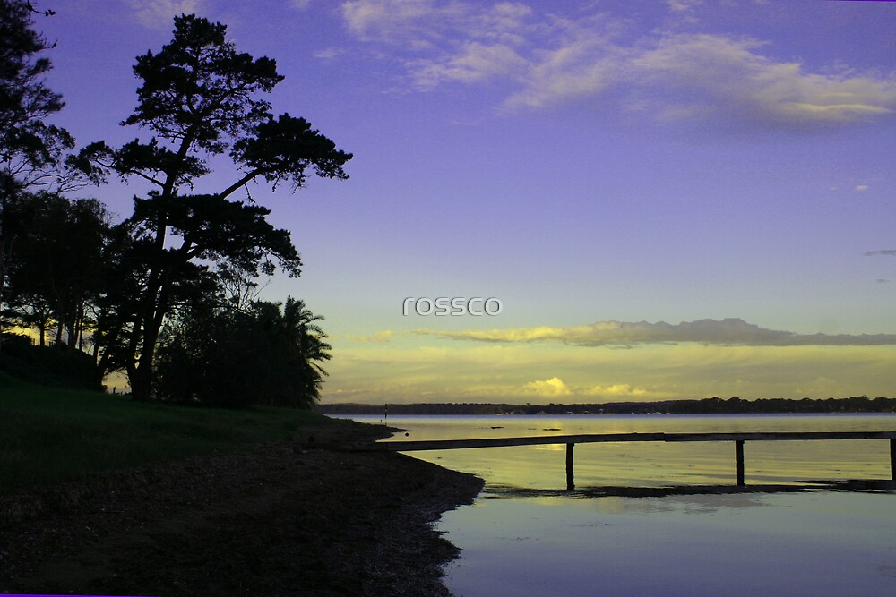 Sunset On Lake Macquarie by rossco