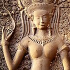 apsara, angkor wat by Tom  Cockrem