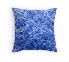 Blue light streaks. Throw Pillow