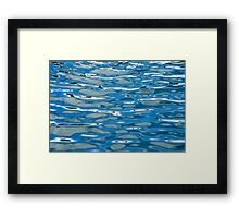 Water reflections. Framed Print