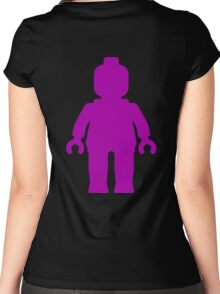 Minifig [Large Purple]  Women's Fitted Scoop T-Shirt