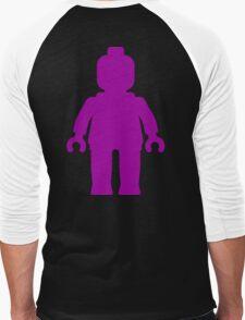 Minifig [Large Purple]  Men's Baseball ¾ T-Shirt