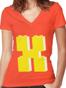 THE LETTER X by Customize My Minifig Women's Fitted V-Neck T-Shirt