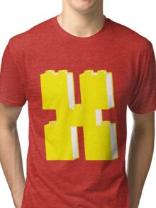 THE LETTER X by Customize My Minifig Tri-blend T-Shirt