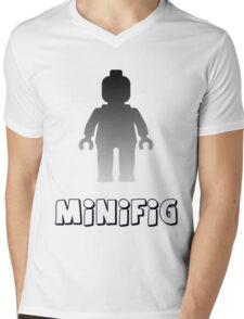 Minifig [Silver] Mens V-Neck T-Shirt