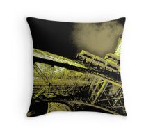 psychedelic tower Throw Pillow