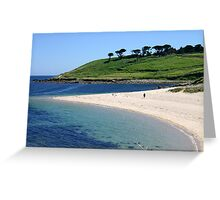 Pelistry beach. Greeting Card