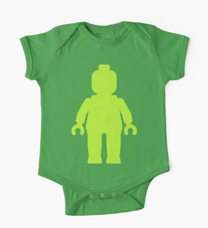 Minifig [Large Lime Green]  One Piece - Short Sleeve