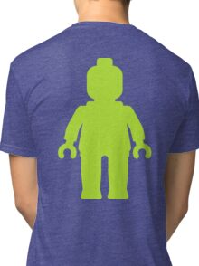 Minifig [Large Lime Green]  Tri-blend T-Shirt