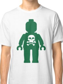 Minifig with Skull Design Classic T-Shirt