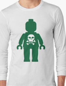 Minifig with Skull Design Long Sleeve T-Shirt