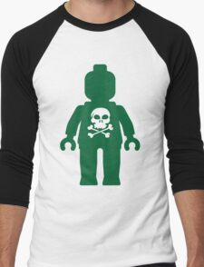 Minifig with Skull Design Men's Baseball ¾ T-Shirt