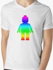 Minifig [Rainbow 1]  Mens V-Neck T-Shirt