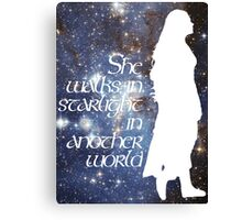 She walks in Starlight... Canvas Print