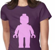 Minifig [Large Light Pink] Womens Fitted T-Shirt
