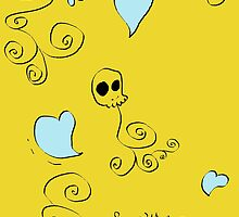 Love Skull by DELAVALLEcards