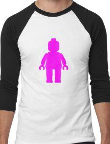 Minifig [Dark Pink]  Men's Baseball ¾ T-Shirt