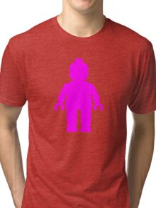 Minifig [Dark Pink]  Tri-blend T-Shirt
