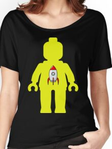 Minifig with Rocket Ship  Women's Relaxed Fit T-Shirt