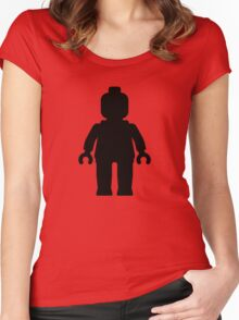 Minifig [Black]  Women's Fitted Scoop T-Shirt