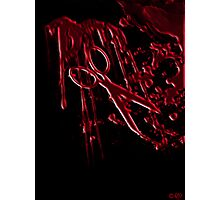 Bloody Scissors Photographic Print