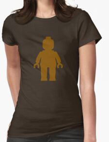 Minifig [Brown]  Womens Fitted T-Shirt