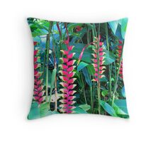 Mad Red Orchids Throw Pillow